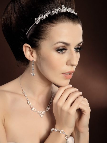 Biżuteria komplet 19; Biżuteria ślubna; KOLEKCJA-Moda Ślubna